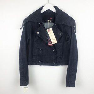 AG Women's Size S Jean Moto Jacket